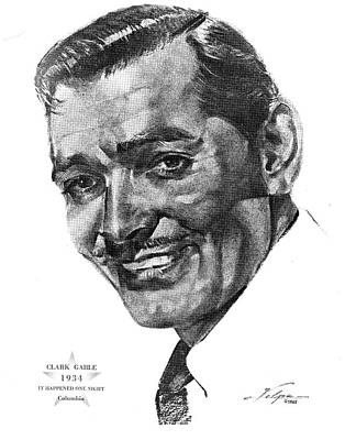 Drawings Royalty Free Images - Clark Gable by Volpe Royalty-Free Image by Stars on Art