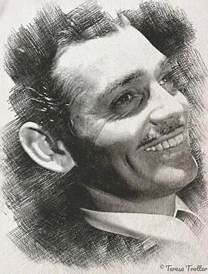 Kim Fearheiley Photography - Clark Gable Sketch by Teresa Trotter