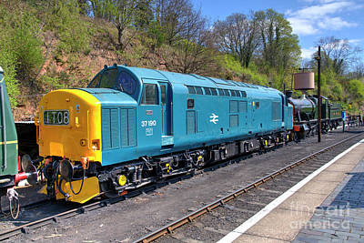 Farmhouse Royalty Free Images - Class 37 at Bewdley  Royalty-Free Image by Rob Hawkins