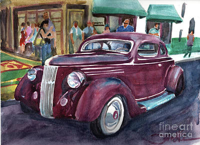 Antique Maps - Classic Car Show by Sandra Stone