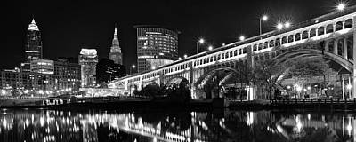 Spot Of Tea Royalty Free Images - Classic Cleveland in Monochrome Royalty-Free Image by Frozen in Time Fine Art Photography