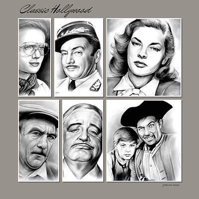 Drawings Royalty Free Images - Classic Hollywood Royalty-Free Image by Greg Joens