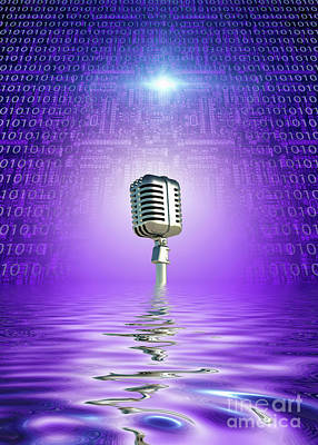 Royalty-Free and Rights-Managed Images - Classic Microphone by Bruce Rolff