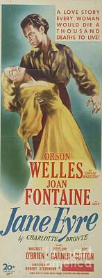 Painting Royalty Free Images - Classic Movie Poster - Jane Eyre Royalty-Free Image by Esoterica Art Agency