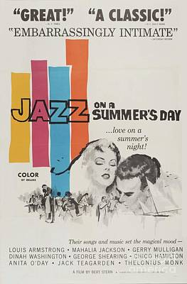 Jazz Mixed Media Royalty Free Images - Classic Movie Poster - Jazz on a Summers Day Royalty-Free Image by Esoterica Art Agency