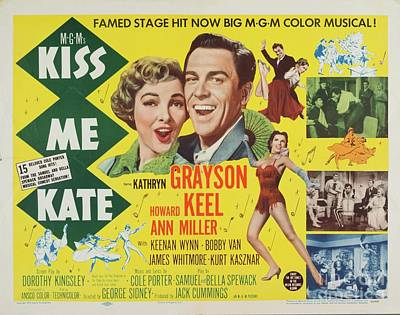 Royalty-Free and Rights-Managed Images - Classic Movie Poster - Kiss Me Kate by Esoterica Art Agency