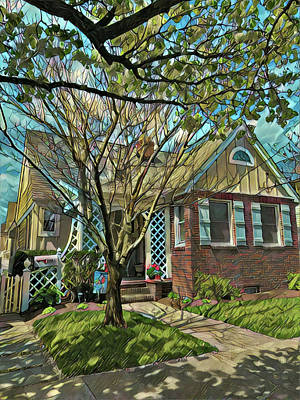 Surrealism Royalty-Free and Rights-Managed Images - Classic Ocean City Cottage by Surreal Jersey Shore
