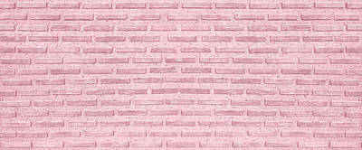 Royalty-Free and Rights-Managed Images - Classic Pink background. Pink Vintage Brick Wall texture seamless pattern. Horizontal Wide Brickwall Background. Grungy pink Brick Blank Wall Texture. Romance background.  by Julien