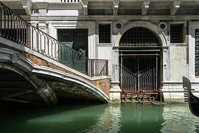 From The Kitchen - Classic Venetian - Palazzo Canalside Entrance and a Private Bridge  by Georgia Mizuleva