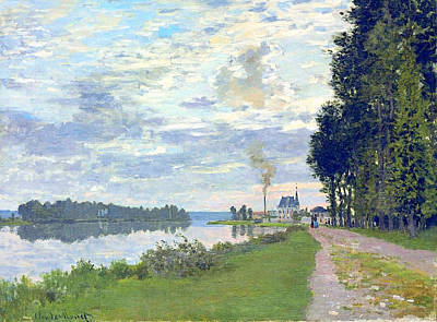 Railroad - Claude Monet The Promenade at Argenteuil  by Artistic Panda