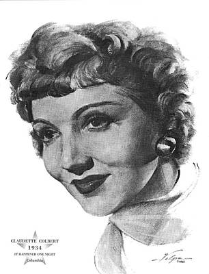 Drawings Royalty Free Images - Claudette Colbert by Volpe Royalty-Free Image by Stars on Art