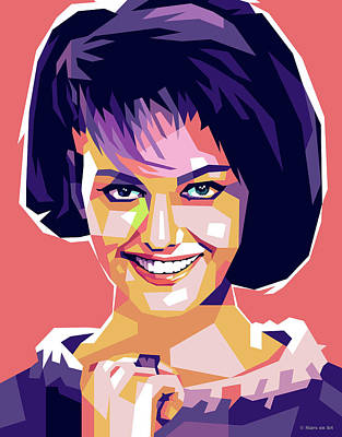Royalty-Free and Rights-Managed Images - Claudia Cardinale 2 by Stars on Art