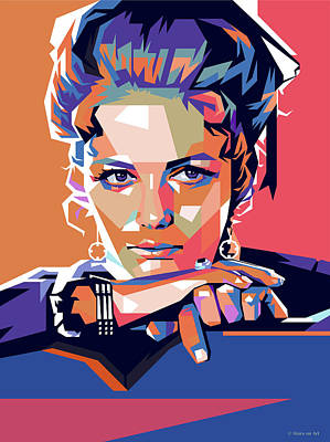 Royalty-Free and Rights-Managed Images - Claudia Cardinale by Stars on Art