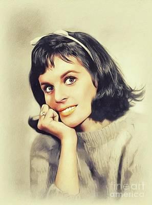 Music Paintings - Claudine Longet, Music Legend by John Springfield