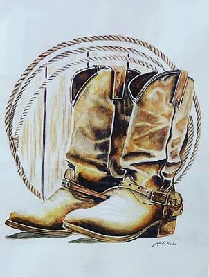 Painting - Clean Soul, Dirty Boots by Jeleata Nicole