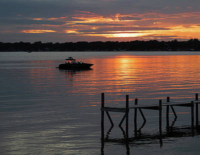 Photograph - Clear Lake At Sunset by David Hintz