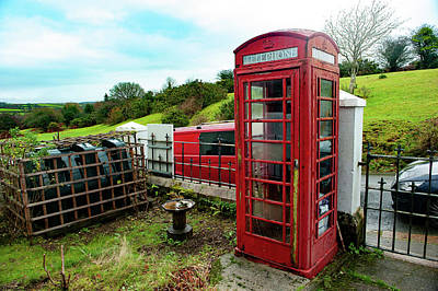 Photograph - Clearbrook Red Telephone Box Dartmoor by Helen Northcott