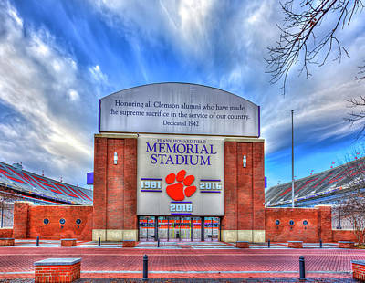 Recently Sold - Sports Royalty-Free and Rights-Managed Images - Clemson University Death Valley Sign Clemson Tigers Football Architectural Art by Reid Callaway