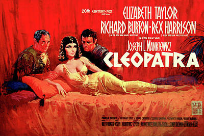Royalty-Free and Rights-Managed Images - Cleopatra 1963 poster by Stars on Art