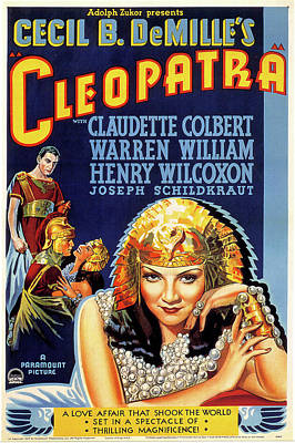 Mixed Media Royalty Free Images - Cleopatra movie poster 1934 Royalty-Free Image by Stars on Art
