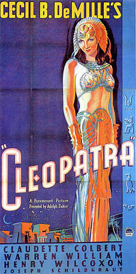 Royalty-Free and Rights-Managed Images - Cleopatra poster 1934 Claudette Colbert by Stars on Art