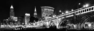 Scifi Portrait Collection - Cleveland Skyline by Frozen in Time Fine Art Photography