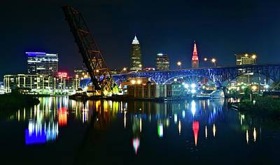 All Black On Trend - Clevelands Colorful Cuyahoga River by Frozen in Time Fine Art Photography
