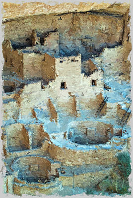 Photograph - Cliff Palace Oil Impression by Bud Simpson