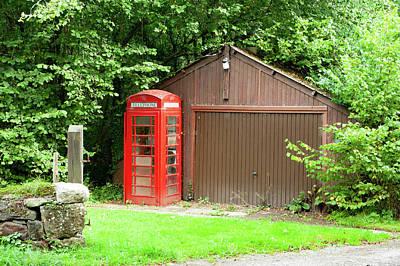 Photograph - Clifford Bridge Red Telephone Box Dartmoor by Helen Northcott