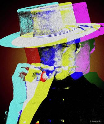 Digital Art - Clint Eastwood by Stars on Art