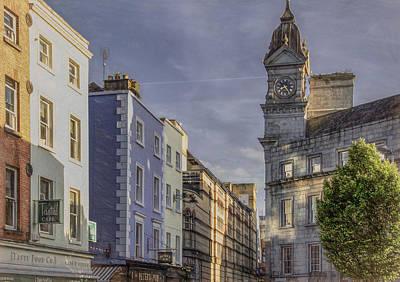 Photograph - Clock Tower of Dublin by Marcy Wielfaert