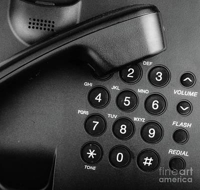 Claude Monet - Close Up Telephone Landline by Nenov Images
