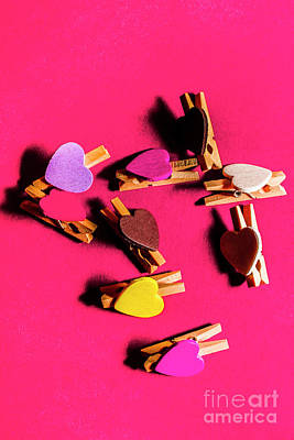 Royalty-Free and Rights-Managed Images - Clothespin lovers by Jorgo Photography