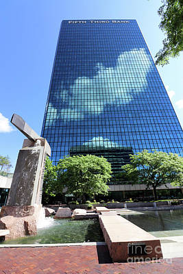 Farm Life Paintings Rob Moline - Cloud Reflections on Fifth Third Building Toledo Ohio  0008 by Jack Schultz