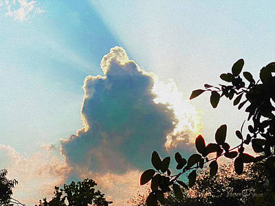 Photograph - Cloud Silhouette by Robert J Sadler
