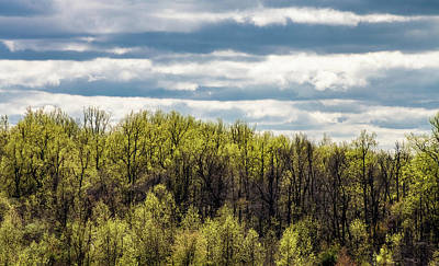 Royalty-Free and Rights-Managed Images - Clouds Over a Springtime Ridge by David Beard