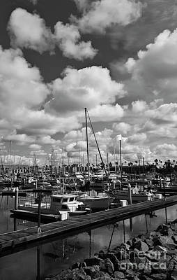 Modern Sophistication Line Drawings Royalty Free Images - Clouds Over the Marina Royalty-Free Image by Julieanne Case