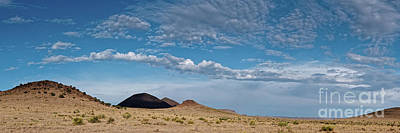 State Word Art - Cloudscape over the Hills of West Texas between Marfa and Fort Davis - Chihuahuan Desert by Silvio Ligutti