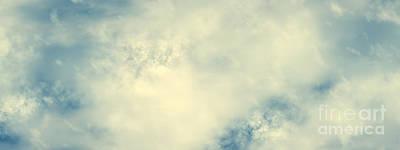 Winter Animals - Cloudy sky background in vintage mood, clouds by Michal Bednarek