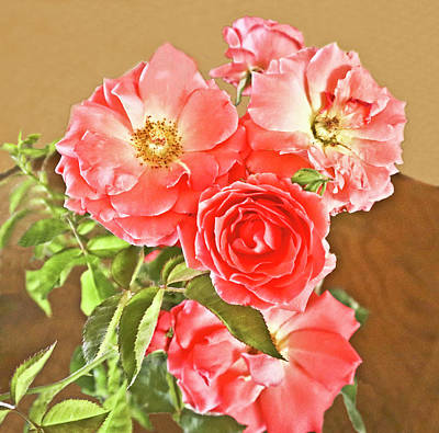Pittsburgh According To Ron Magnes - Cluster Rose Bouquet by Joyce Dickens