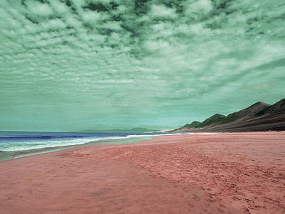 Clouds Rights Managed Images - Coast Line - Surreal Art by Ahmet Asar Royalty-Free Image by Celestial Images