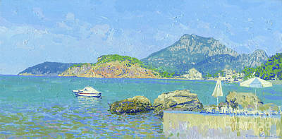 Painting - Coast. Sutomore. Montenegro by Simon Kozhin