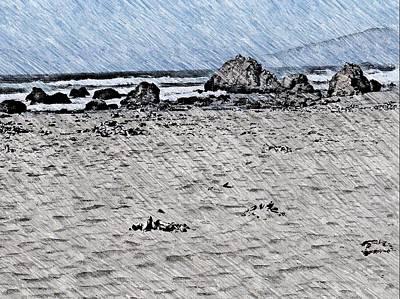 Antlers - Coastal sketch by Steven Wills