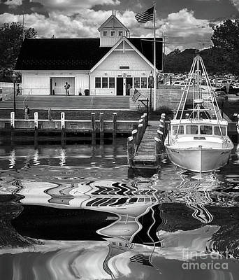 Namaste With Pixels Royalty Free Images - Coastguard Hyannis Ma in B and W Royalty-Free Image by Jack Torcello