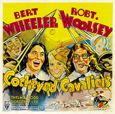 Royalty-Free and Rights-Managed Images - Cockeyed Cavaliers, with Bert Wheeler and Robert Woolsey, 1934 by Stars on Art
