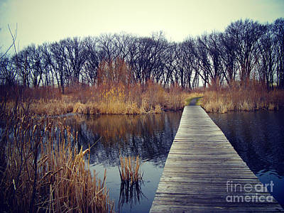 Frank J Casella Royalty-Free and Rights-Managed Images - Cold Day at the Water by Frank J Casella