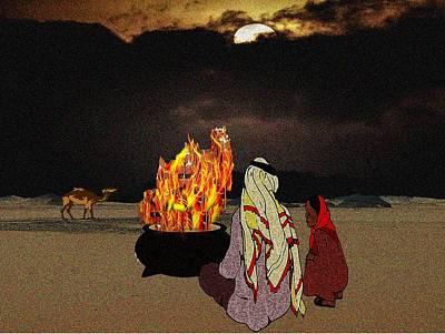 Movies Star Paintings - Cold Desert Nights by Belinda Threeths