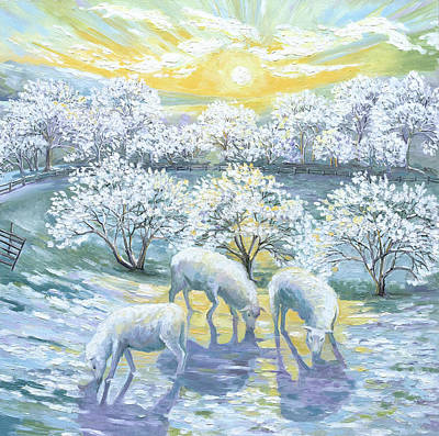 Painting - Cold Frosty Morning by Paula McHugh