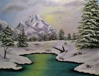 Animals Paintings - Cold Winters Day by Karen Tauber