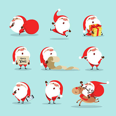Royalty-Free and Rights-Managed Images - Collection of christmas santa claus by Julien